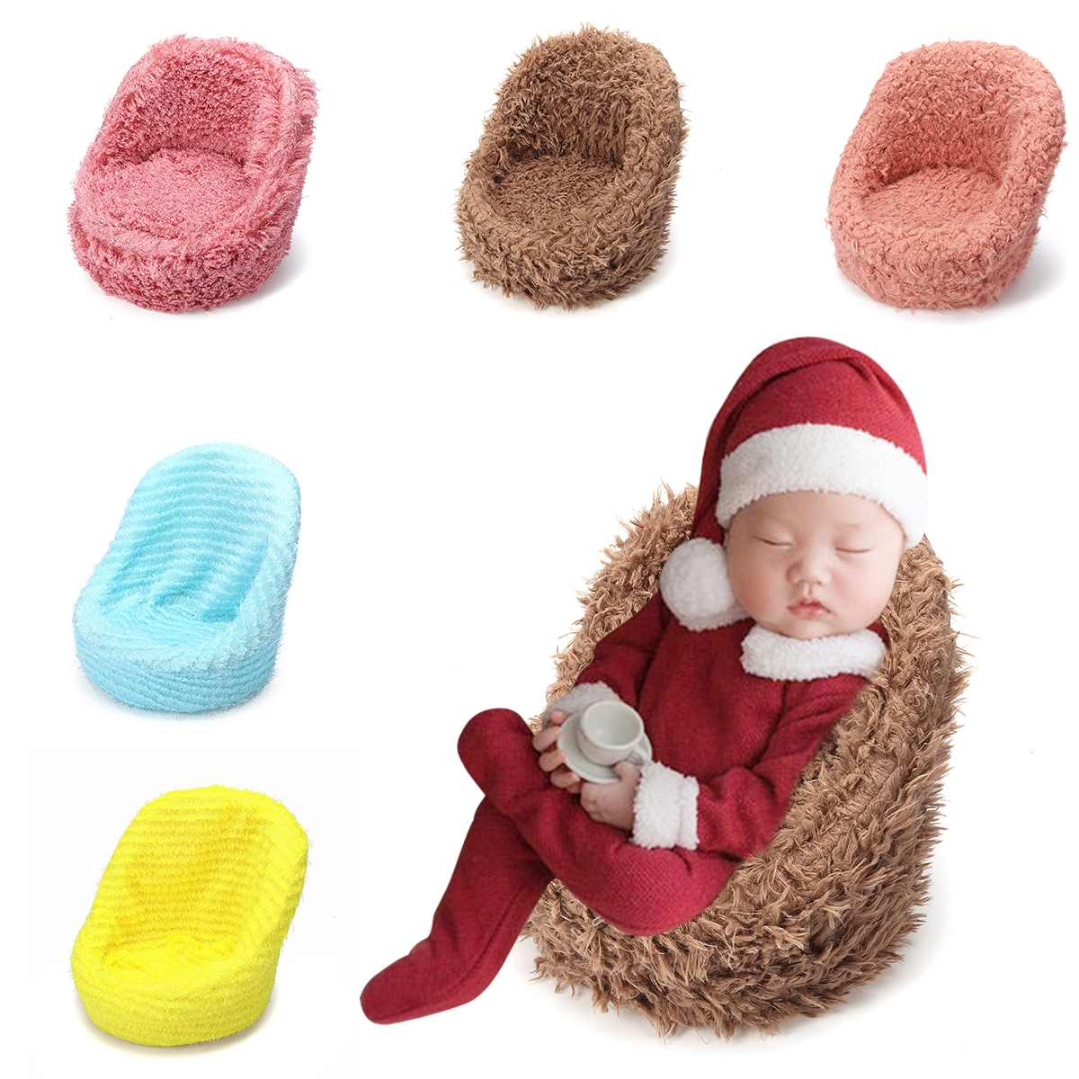 32x28x32cm Mini Newborn Photography Props Baby Posing Sofa Soft Chair Basket Infant Posing Photographing Studio Shooting Tool