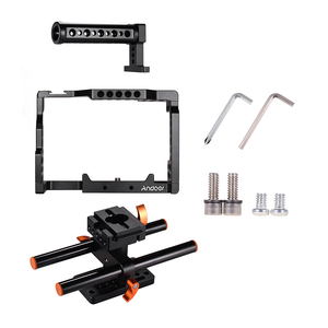 Image 2 - Andoer Camera Cage +Top Handle +15mm Rod Baseplate Kit Video Movie Making Stabilizer for Sony A7III/SII/M3/A7RII Camera