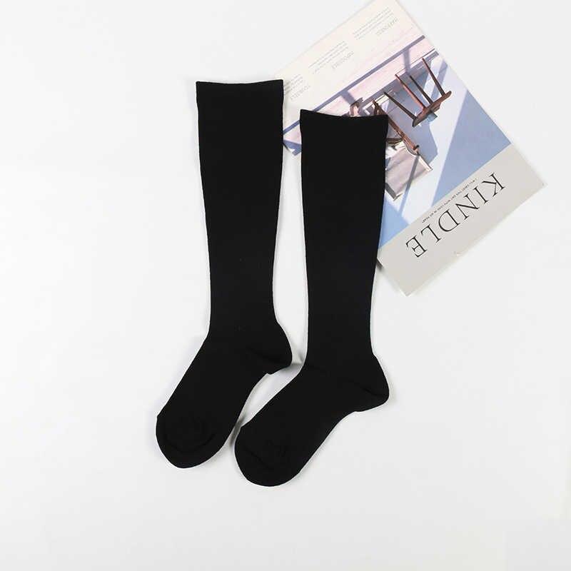 DONG AI puro preto nylon suave meias longo tubo quente e confortável e casual das mulheres venda quente