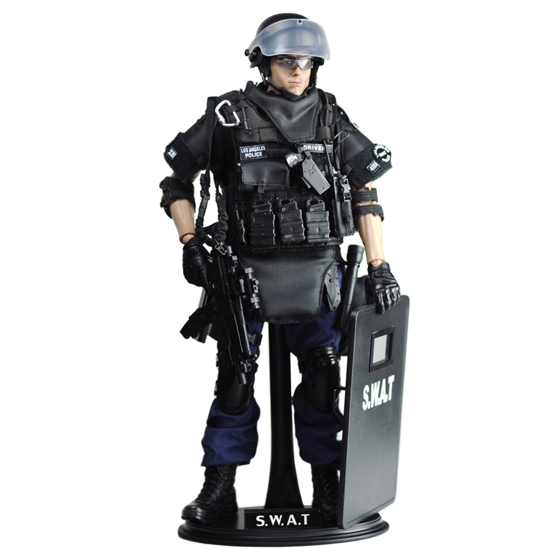 1/6 Scale Movable Solider Military Action Figure Toy with Movable Joint Collectable SWAT Team Model Birthday Gift Present