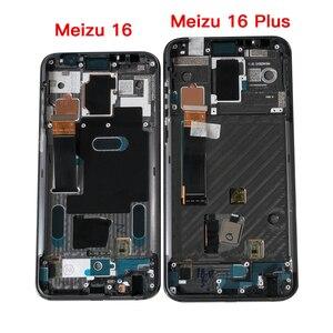 """Image 4 - 6.0 """"מקורי סופר Amoled עבור Meizu 16 16th M882Q/M882H Axisinternational LCD תצוגת מסך עם מסגרת + מגע פנל Digitizer"""