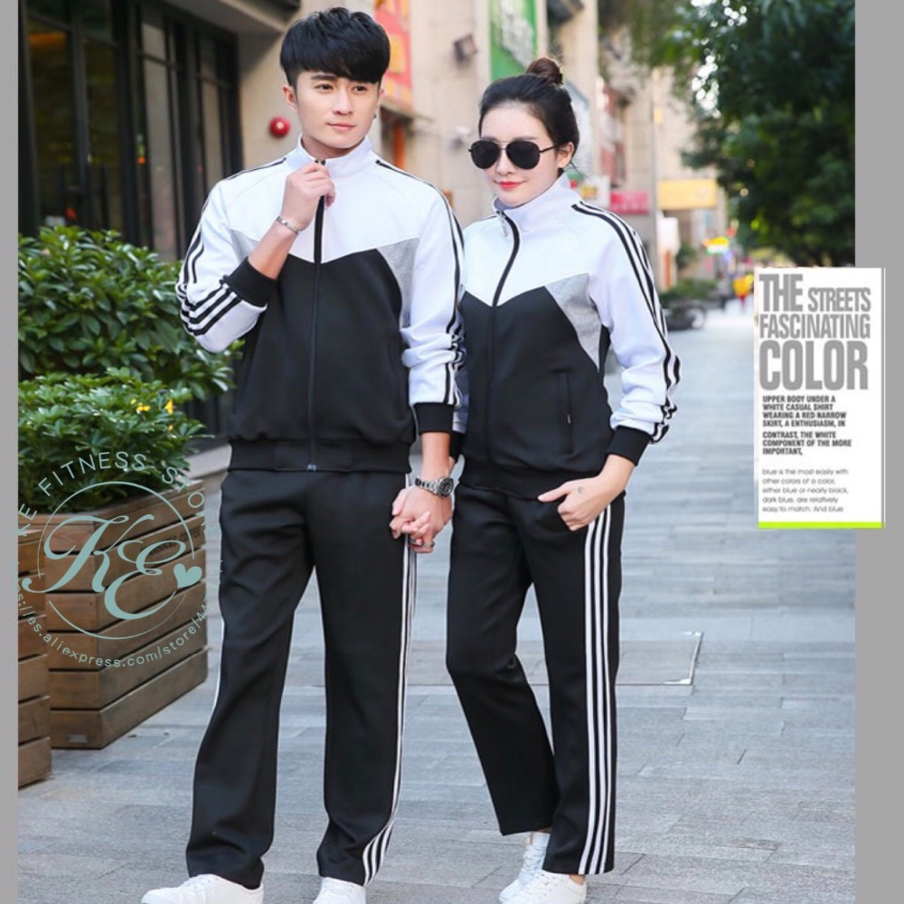 Sports Set Unisex Chandal De Hombre Tracksuit For Women  Chandal De Mujer Training Suit Women Sports Suit Fato De Treino Mulher