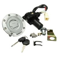 Motorcycle Ignition Switch Helmet Steering Seat Lock Key Fuel Gas Cap Set For Yamaha YZF R1 R6 2001 2012