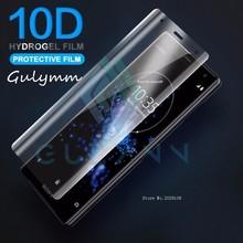 10D kavisli hidrojel yumuşak Film Sony Xperia Xa 1 2 artı Ultra tam kapak XZ 2 3 Premium XZ1 XZ S kompakt HD ekran koruyucu