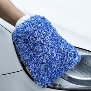Image 3 - Luva de absorvência macia limpeza de carro de alta densidade ultra macio fácil de secar auto detalhando microfibra loucura lavagem luva pano