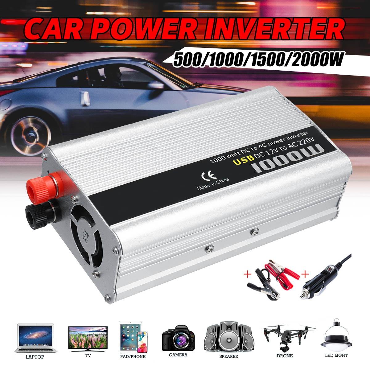 KROAK Car Inverter 500W/1000W Car Inverter DC 12V To AC 220V Power Inverter Charger ConverterKROAK Car Inverter 500W/1000W Car Inverter DC 12V To AC 220V Power Inverter Charger Converter