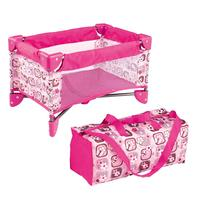 Simulation Miniature Pink Bed Bag Crib Set Baby Doll Furniture Accessories Decoration for Vinyl Realistic Boy Girl Baby Dolls