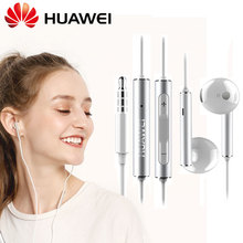 Fone de ouvido original huawei am116, fone de ouvido de metal honor am115, 3.5mm, headset, microfone com volume p10 plus p9 p8 p7 mate 8 9 6x v9