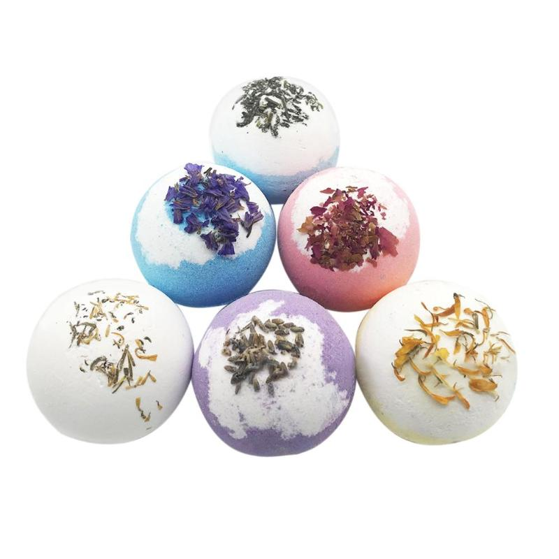 Bath Bomb SPA Bubble Bath Ball Dried Flower Essential Oil Stress Badschuim Bath Bomb Bruis Ball Enbad Badzout Bath