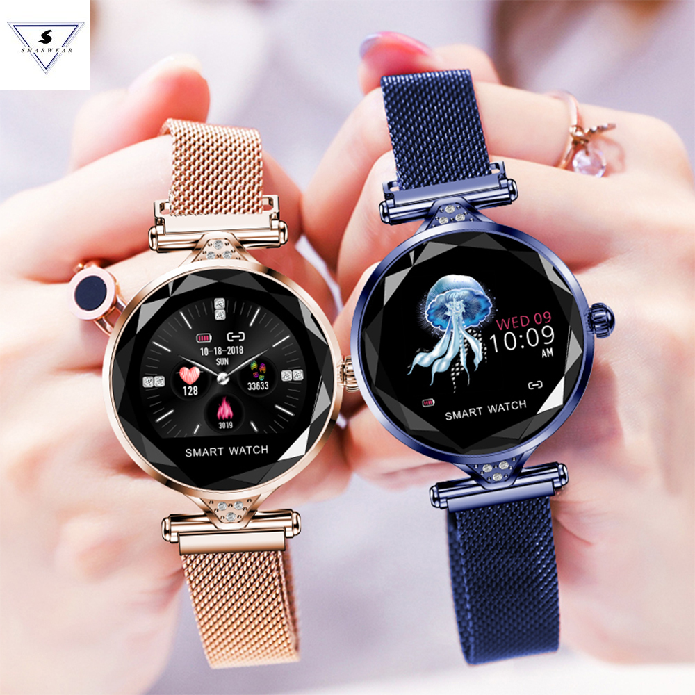 Best Gift H1 Women Fashion  Heart Rate Monitor Smart Watch Ladys Smartwatch Fitness Bracelet Pedometer For Ios Android PhoneBest Gift H1 Women Fashion  Heart Rate Monitor Smart Watch Ladys Smartwatch Fitness Bracelet Pedometer For Ios Android Phone