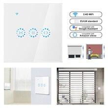 Akıllı ev WiFi elektrik dokunmatik akıllı güneşlikler perde anahtarı Ewelink APP ses kontrolü Alexa Echo google ev panjur motoru