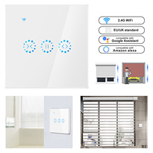 Smart Home WiFi Elektrische touch smart Jalousien vorhang schalter Ewelink APP Voice Control durch Alexa Echo google home Jalousien Motor