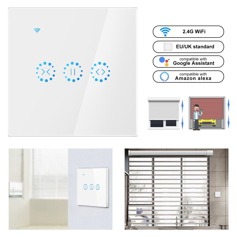 Smart Home WiFi eléctrico táctil inteligente persianas interruptor de cortina Ewelink APP Control de voz por Alexa Echo google home persianas Motor