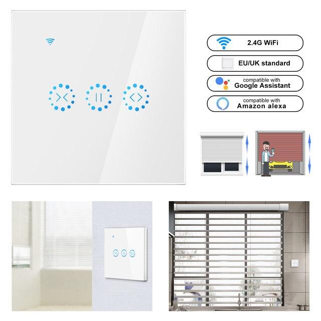 Smart Home WiFi eléctrico táctil persianas interruptor de cortina Ewelink APP Control de voz de Alexa Echo para Motor de persianas de límite mecánico