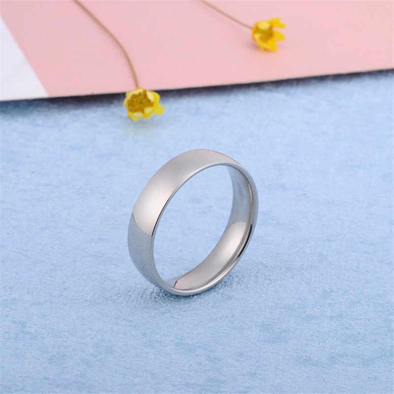 Nowe stalowe pierścienie ze stali nierdzewnej dla mężczyzn kolor Ring Finger dla kobiet biżuteria różowe złote pierścionki dla kobiet srebrny pozłacany pierścień na prezent dla mężczyzny