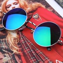 Retro Fake Myopia Eyeglasses Frame Round Metal Women Men Sunglasses Polarized glasses