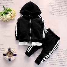 2019 Spring Baby Casual Tracksuit Children Boy Girl Cotton Zipper Jacket Pants 2Pcs/Sets Kids Leisure Sport Suit Infant Clothing недорого