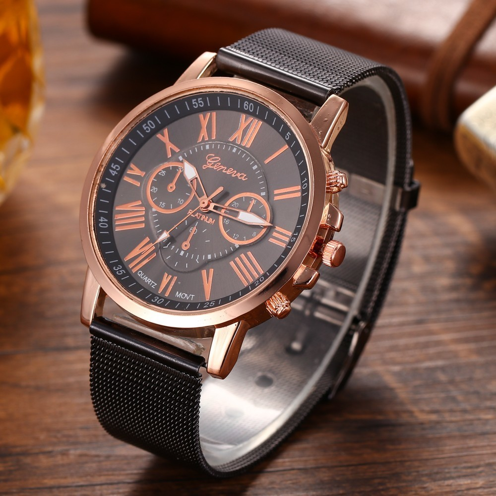 2018 Fashion Quartz Men Watches Alloy Mesh Belt Men's Watch Business Simple Montre Homme Relogio Sport Buy-direct-from-china