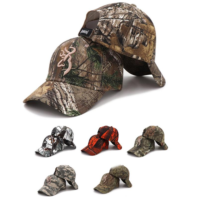 Browning Hunting Camouflage Cap Baseball Cap Fishing Cap Men Army Outdoor Hunting Hat Airsoft Tactical Hiking Camo Casquette Hat
