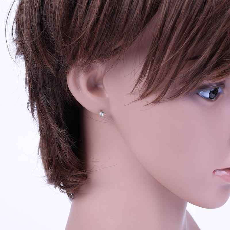 20Pairs Fashion Cute Women  Round Plastic Pin Earring Ear Studs For Birthday Gif