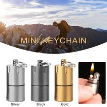 Mini Kerosene Lighter Key Chain Capsule Gasoline Lighter Inflated Keychain Petrol Lighter Outdoor Tools For Camping & Hiking
