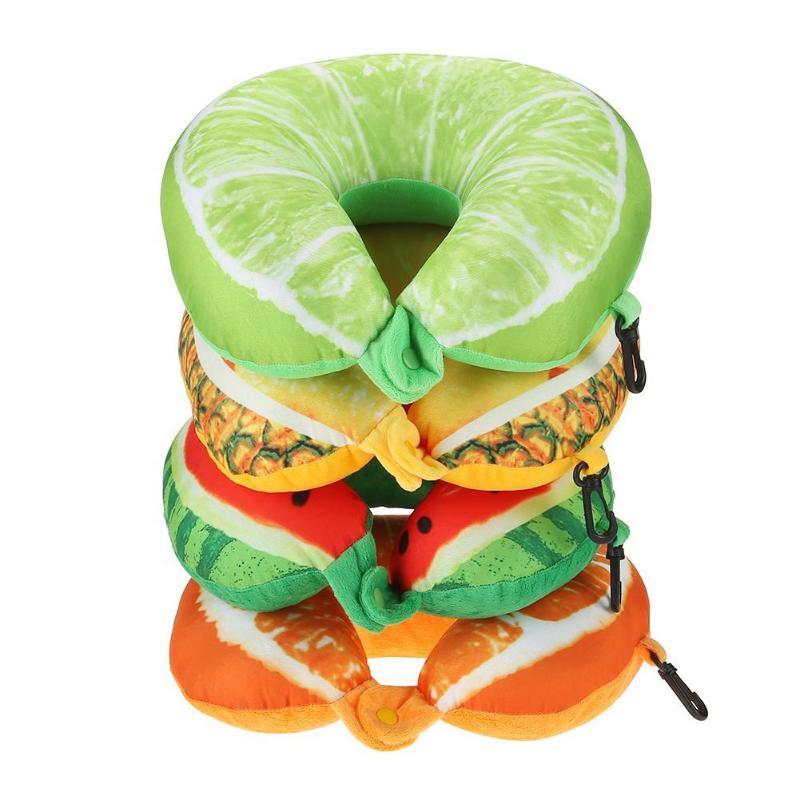 1 Pcs 7 Kleuren Fruit U Vormige Kinderen Auto Kussen Reizen Auto Nek Kussen Nek Protector Watermeloen Kussen Pad Voor Kids Kinderen Zorgvuldig Geselecteerde Materialen