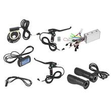 Electric Bike Scooter Electric Bicycle 36V/48V 250W/350W Brushless Controller Set LCD Panel Brake Throttle Hall Sensor Kit(China)
