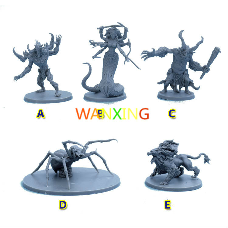 <font><b>1/48</b></font> Scale Model Massive Darkness Board Game BOSS Style <font><b>Resin</b></font> DIY Production Toys For Children Free Shipping image