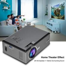Video-Projector-37-130inch Keystone Mini Home 1080P HD Correction Optical Au-Plug UK