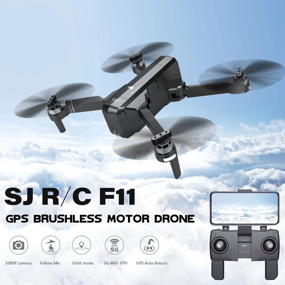 SJRC F11 PRO GPS 5G Wifi FPV z 2K 25 minut czasu lotu bezszczotkowy Selfie zdalnie sterowany dron Quadcopter w Helikoptery RC od Zabawki i hobby na  Grupa 2