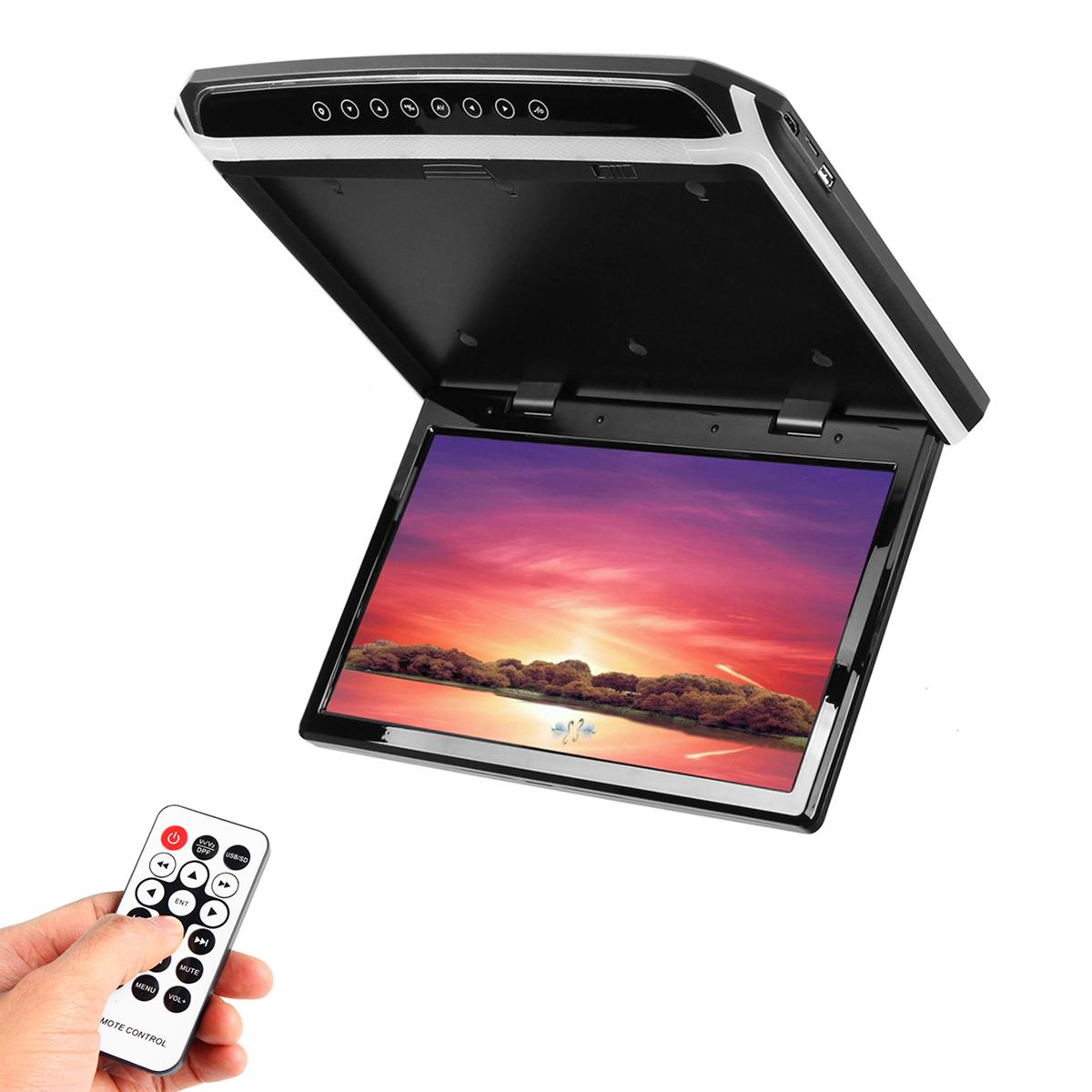 15 6 Wide HDMI Car Ceiling Flip Down Monitor Roof Mount Player Roof Mount Flip Down