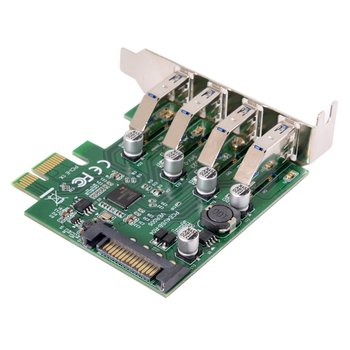 Jimier Low Profile 4 Ports PCI-E to USB 3.0 HUB PCI Express Expansion Card Adapter 5Gbps for Motherboard dovewill pci e sata 3 to usb 3 0 4 port pci express expansion card 4 usb 3 0 ports