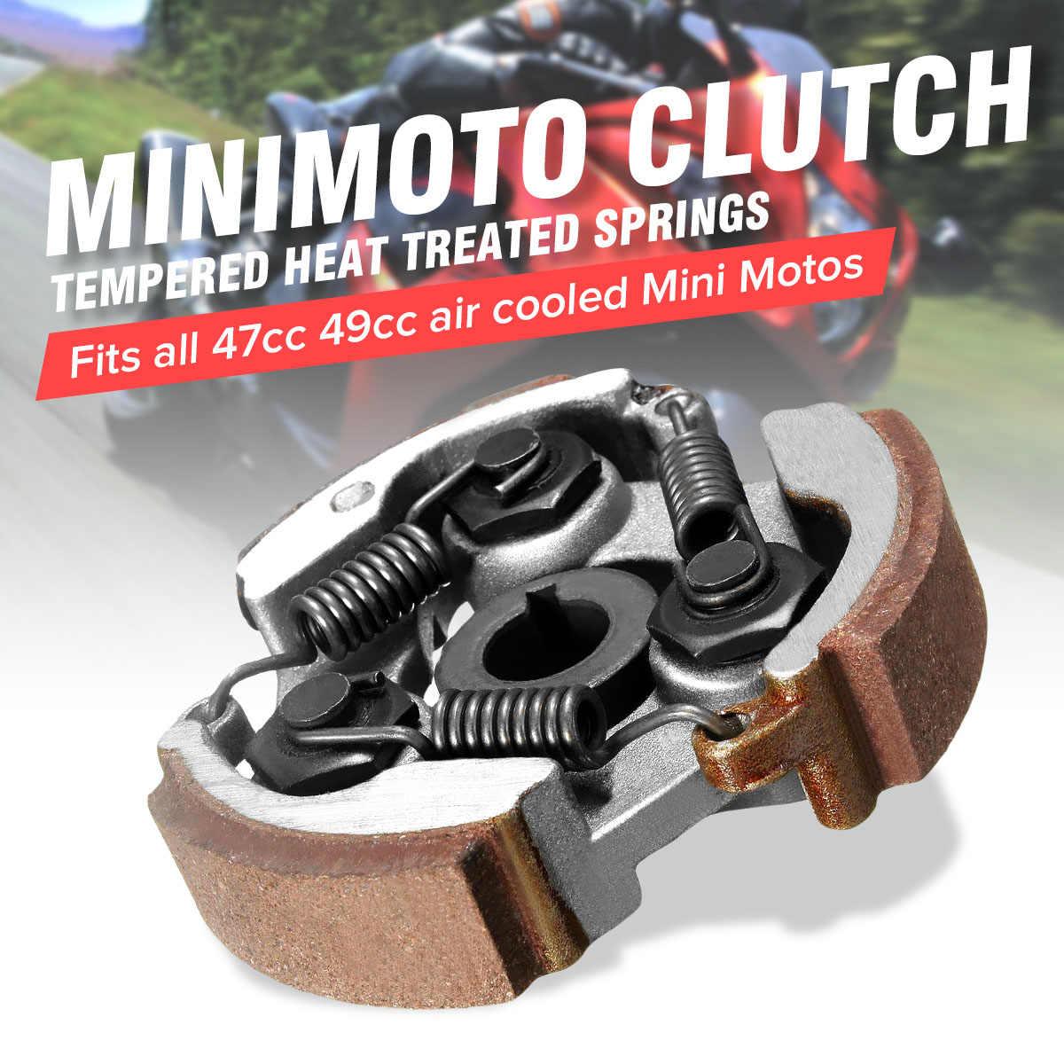 2 Stroke 47cc 49cc Moto Bersepeda Mini Moto Kopling Sentrifugal Alloy Mini Moto Dirt Bike Atv Quad 3 Sepatu Musim Semi