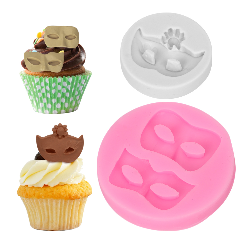 Silicone Mold Fondant Chocolate Sugarcraft Mould Bakeware Cake Decorating Tool Masquerade Mask Shape 7x7cm Kitchen Accessories