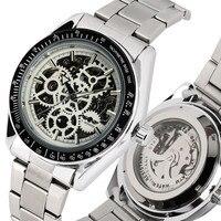 Luxo Tourbillon Homens Mecânicos do Relógio Esqueleto Automática Relógios Mecânicos Auto vento Ponteiros Luminosos relógios de Pulso Mecânicos|Relógios mecânicos| |  -