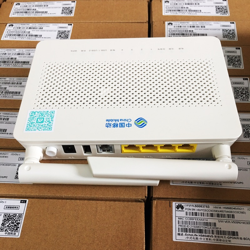 Delicious 10pcs Ypay Gpon Onu Wifi Hua Wei Hs8546v5 Mini Size Gpon Onu Ont Ftth Hgu Router Mode Port 4ge++1tel+usb+2.4gwifi+5gwifi Dependable Performance Fiber Optic Equipments