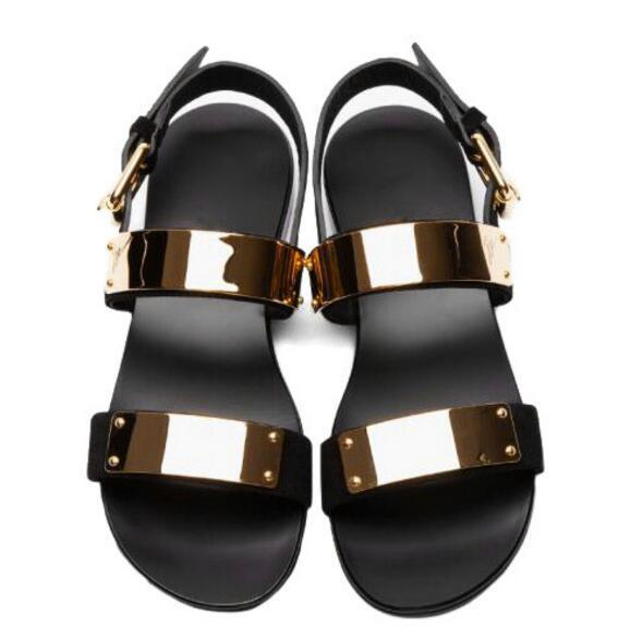 Verão Homens Sandálias As as Rebites Sandalias Calçados Punk De Flats Praia Mens 1 Dos Casuais Quente Gladiadores Da Ouro Cravejado Fivela Pics Do Couro 2 nRFqXxgtrF