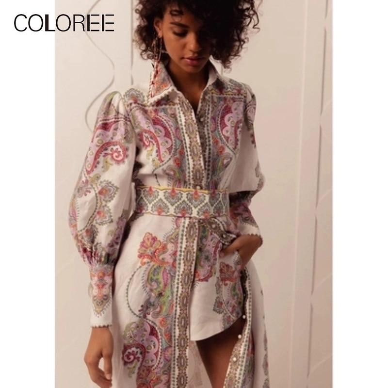 2019 été piste designer longue robe bohème imprimé floral élégant fente robe boho style robe + short