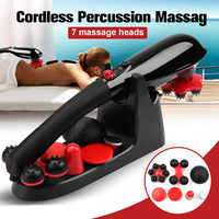Brand New 5 Speed Cordless Percussion Massager Handheld Full Body Massage Stick Roller Vibration Gold Neck Back Feet