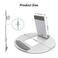 durable aluminum alloy Universal Desktop Tablet Holder Mount Phone Holder Aluminum Alloy Round Stand Durable For IPad Pro Adjustable #1122 (2)