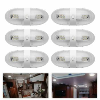 6X 12V LED Ceiling dome Lights RV Onterior Lighting Switch For RV Camper Marine