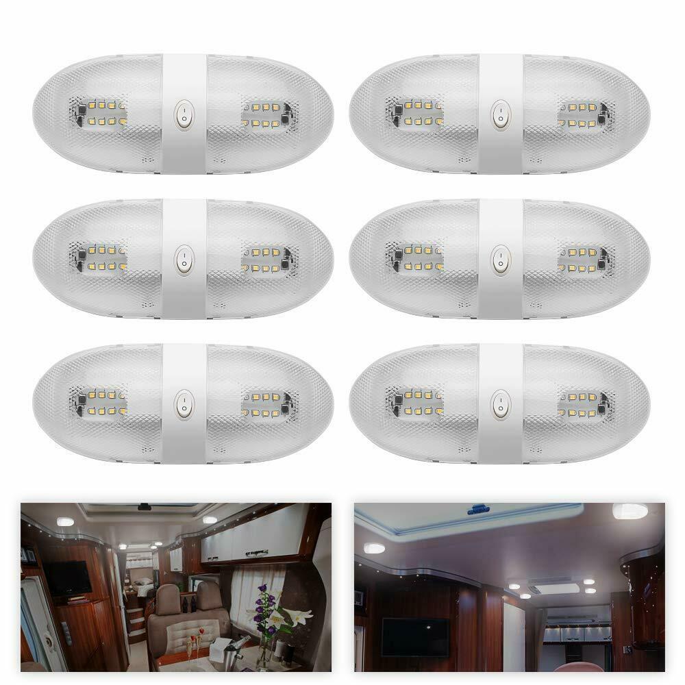 Le dôme de plafond de 6X12 V LED allume le commutateur d'éclairage antérieur de RV pour la Marine de camping-car de RV