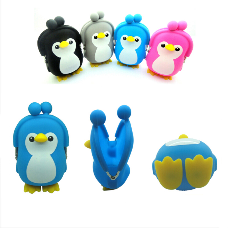 Friendly 2019 Kawaii Penguin Pouch Cute Silica Gel Coin Purse Holder Cartoon Animal Hasp Small Wallet Girls Change Purse Kid Gift Bags Fragrant Aroma