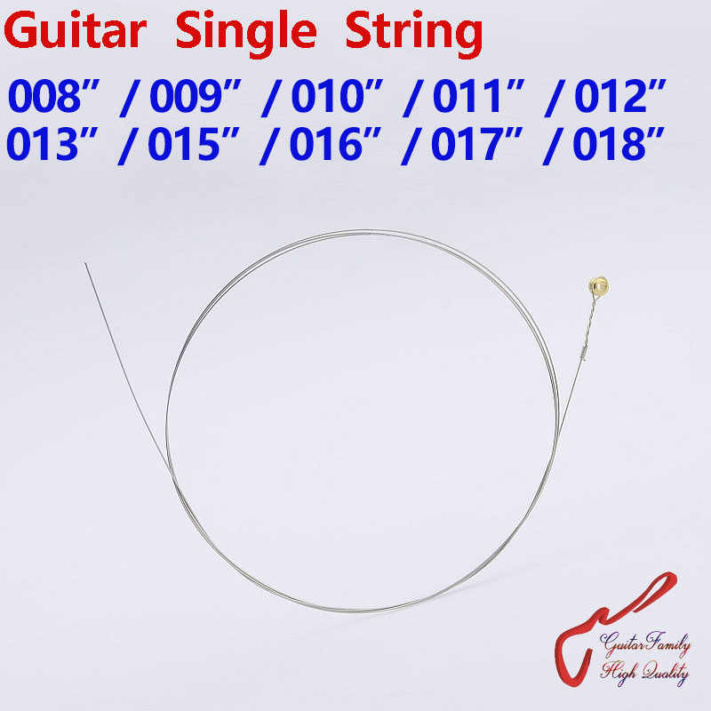 1 Piece Guitarfamily Gitar String Tunggal 008/009/010/011/012/013/015/ 016/017/018 Dibuat Di Korea