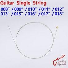 Guitarra única corda para guitarra, 1 peça, 008/009/010/011/012/013/015/016/017/018 feita na coréia