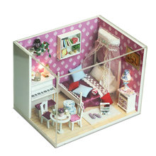Doll House Dcream House DIY Miniature Dollhouse with Wooden Furniture Toys for Child Holiday Times Fun(China)
