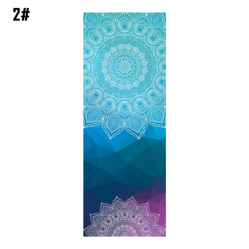 Mandala Print Portable Yoga Mat 3