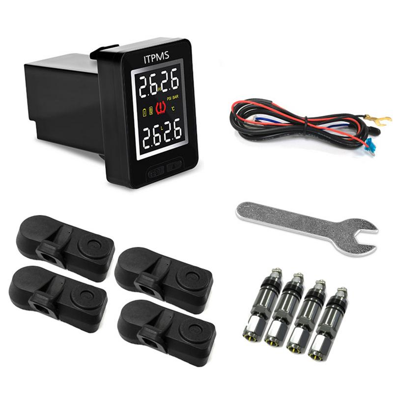 Image 5 - U912 Car Wireless Tire Pressure Monitoring System 4 Internal Anti theft Sensors LCD Real time TPMS For Toyota Land Cruiser Reiz-in Tire Pressure Alarm from Automobiles & Motorcycles