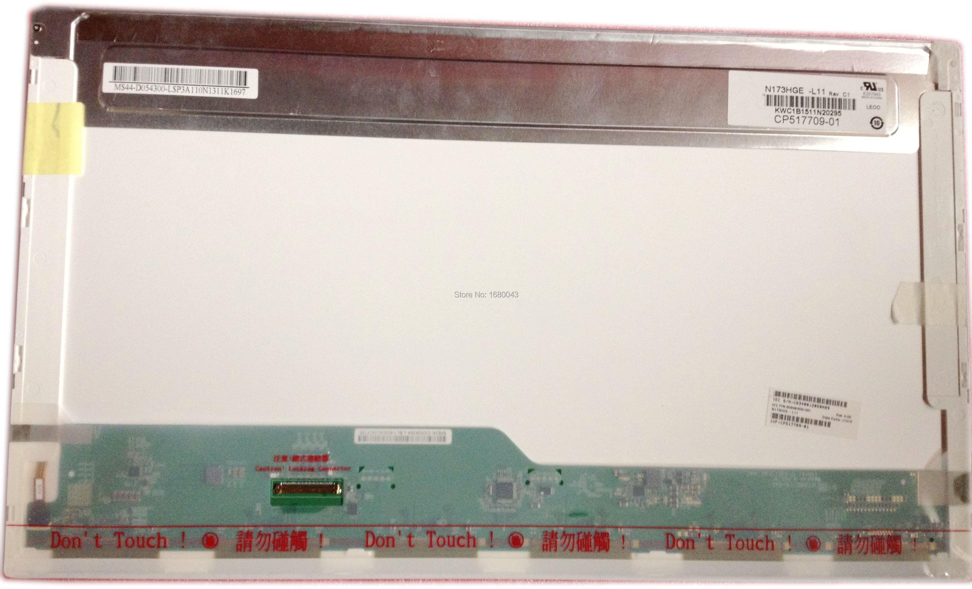 N173HGE-L11 Rev C1 fit B173HW02 V.1 V.0 B173HW01 V.5 1920x1080 HSD173PUW1 A00 A01 N173HGE-L21 40 pin TELA LCD PAINEL