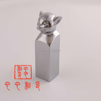 Chinese Style Chrome Plated Personality Stamp with Gift Box Seal Stamps for Scrapbooking Valentine's Day Gift